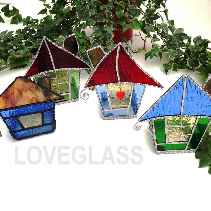 ***30% Sale*** SWEET HOME TEA LIGHT CANDLE HOLDER 3D Stained Glass Decoration Gift Present These cute houses are available to buy at my eBay or Folksy account. They look absolutely fabulous.
