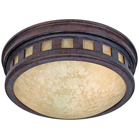 "Sedona 13""W Mediterranean Patina Outdoor Ceiling Light"