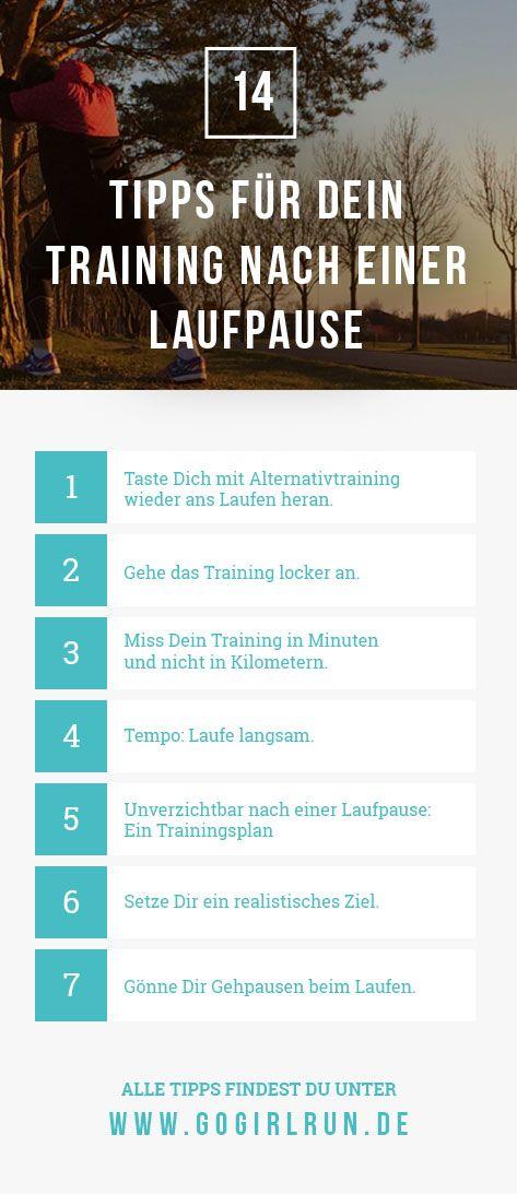 Wiedereinstieg ins Lauftraining nach einer Pause: Verletzung oder Krankheit? Mit diesen 14 Tipps und dem richtigen Trainingsplan wirst Du wieder fit. #laufen #training #lauftraining #trainingsplan #anleitung #joggen #tipps #halbmarathon