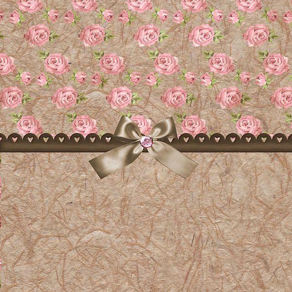 """Vintage Elegant Pink Roses"" by Debra Miller."