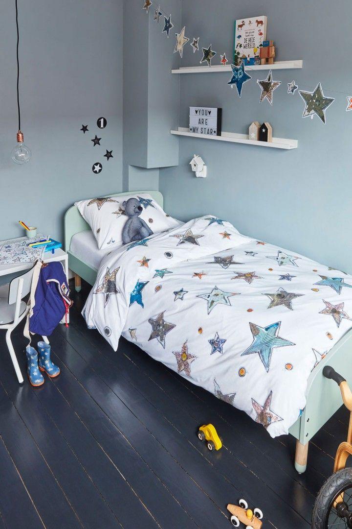 Vanaf 1 september online! Beddinghouse Kids Lots of Stars Blue - Inspiratie Blauwe Kinderkamer
