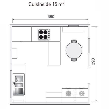Best kitchen plans from 1m2 to 32m2 plan cuisine - Plan amenagement cuisine 10m2 ...