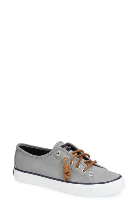 Sperry Top Sider Katama Prints Femmes Blanc Chaussures décontractées EU 36 Alviero Martini 1 ^ Classe Sneakers En Cuir Et Toile Qr20BzNkU