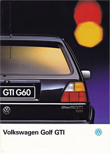 Volkswagen Golf GTI Mk 2 from January 1991.