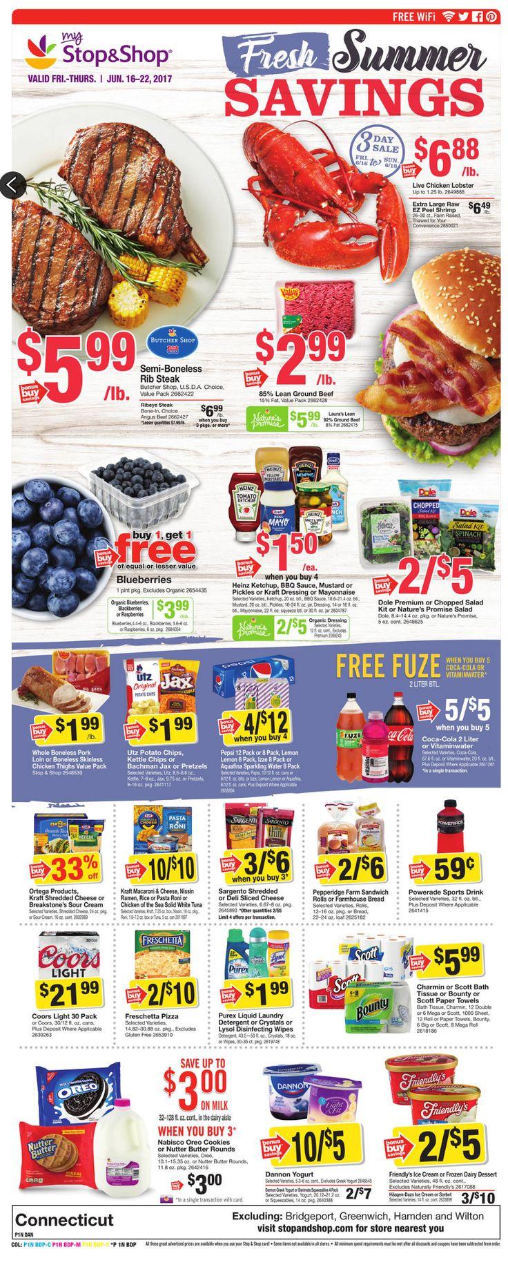 Stop and Shop Circular June 16 - 22, 2017 - http://www.olcatalog.com/grocery/stop-and-shop-circular.html