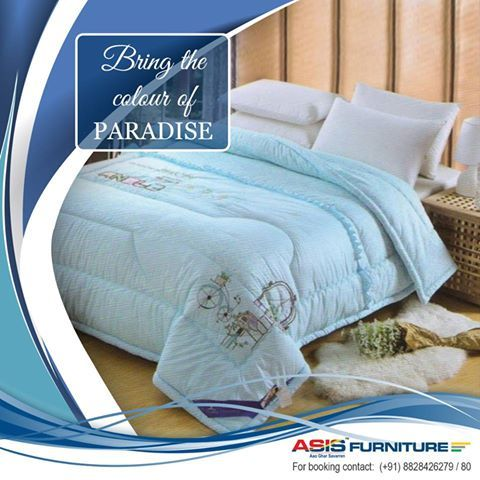 enjoy every moment of your resting with asis premium blue abstract design double comforter - Ly Design Your Bedroom