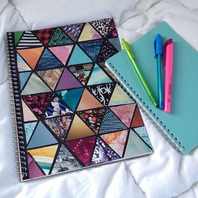 ¿Te gusta esta idea para decorar tus cuadernos este regreso a clases? ✨ #b2s #notebook #diy