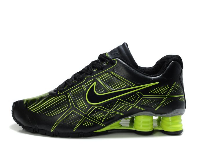 Offers You The Latest Styles Nike Shox -Turbo12 Men Green Black Shoes Top  Seller