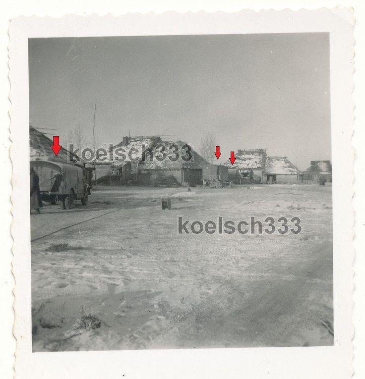 Foto LKW ´s Tankwagen Kfz Anhänger Ostfront Quartiere Wehrmacht Russland .... | eBay