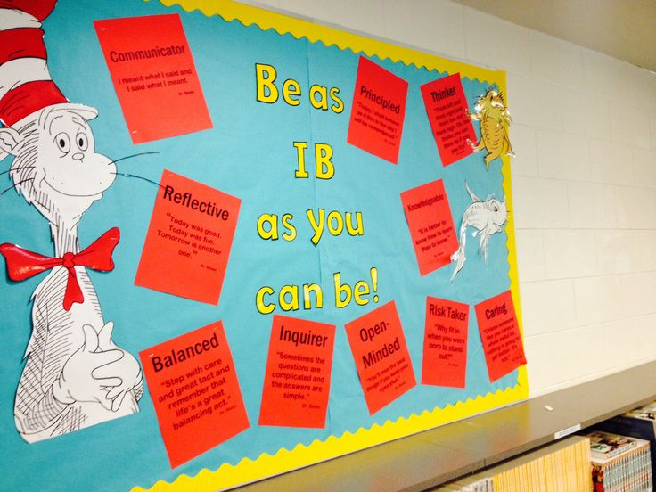 Learner Profiles aligned with Dr Seuss quotes