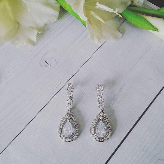 Bridal Earrings   Waterdrops Crystal Bridal Earrings