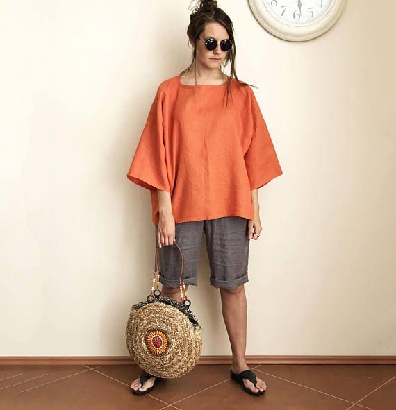 Shorts de lino pantalones cortos para mujer pantalones