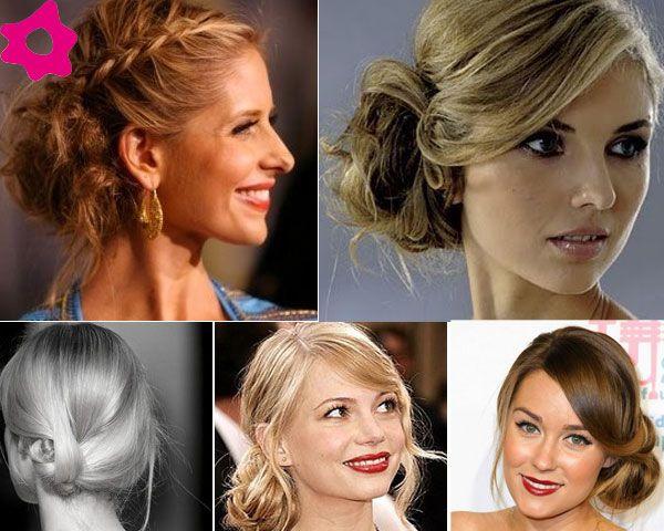 recogidos, laterales, novias, moño, peinado, novia, pelo, melena, recogido,