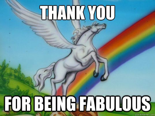 A unicorn thank you from this Escape room!