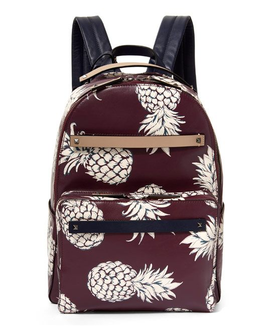 Valentino Burgundy Pineapple Backpack