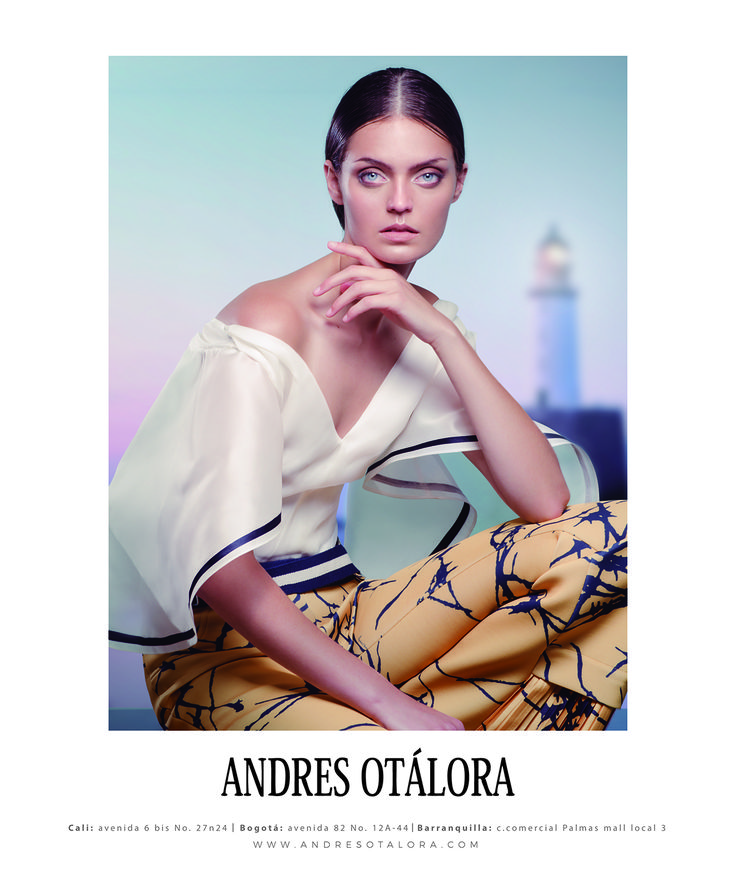 """La Belle"" Otero and the fresh and sophisticated spirit of the French Riviera are the two starting points for this story that mixes the pleats and the flamenco influence of the Spanish born dancer/actress, with the sailor and luxury soul of cote d'azur. #SpringSummer2017 #AndrésOtálora #Moda #Fashion"