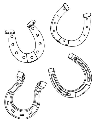 free printable horseshoe coloring pages - printable horseshoe coloring page free pdf download at