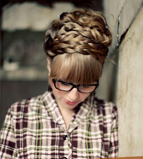 Clear lens glasses & braids :X