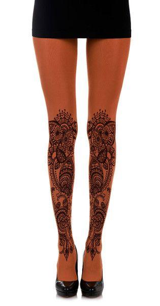 Henna Tattoo tights