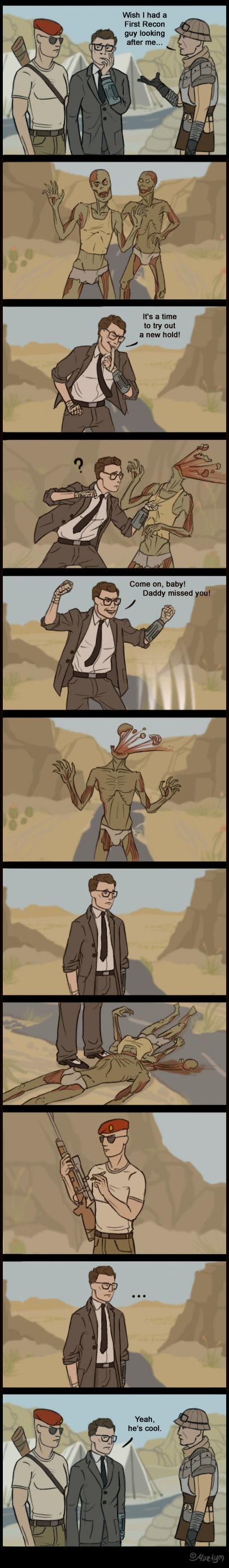 Fallout New Vegas - Boone by martym.deviantart.com on @deviantART -it's funny cause it's true, being a melee person myself.