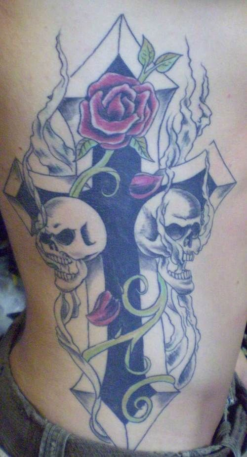 45 best skull rose and cross tattoo images on pinterest cross tattoos tattoo designs and. Black Bedroom Furniture Sets. Home Design Ideas