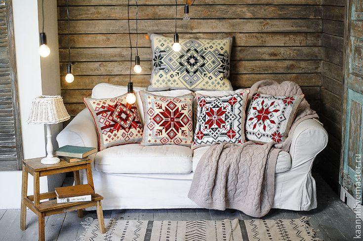 Купить Коллекция Декоративных подушек Новогодняя - разноцветный, купить подарок, купить, купить в москве