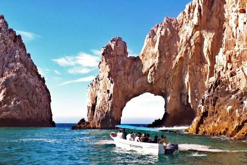 El Arco, The Arch, a famed natural rock formation off Cabo's Land's End at the juncture of the Sea of Cortez and the Pacific Ocean.