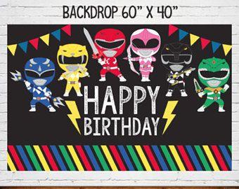 Fiesta de poder Rangers telón de fondo, fiesta de cumpleaños de Power Rangers, Power Ranger, Power Ranger instantánea descargar, archivos digitales