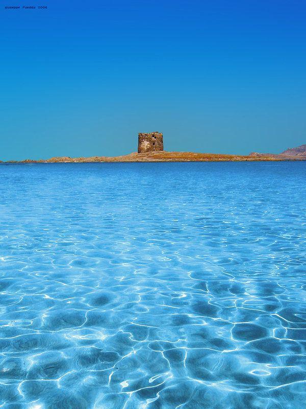 Sardinian sea in Stintito (Sassari) La Pelosa beach.