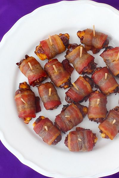 Bacon-Wrapped Blue Cheese Stuffed Dates Recipe. Sounds like an easy appetizer!
