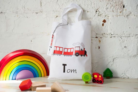 Personalised ABC Party bags by MummyandMimi on Etsy