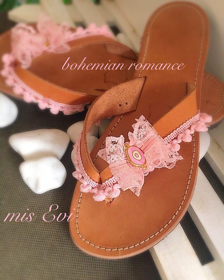 Bohemian romance!!!!! Handmade leather sandals