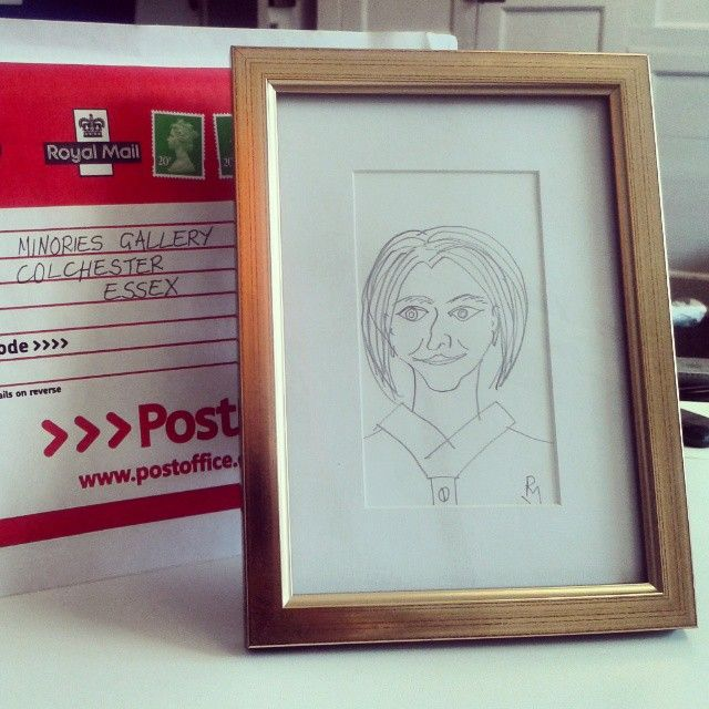 Someone sent us a little portrait in the mail with no note. Very intriguing!