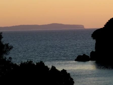 View from Stefanos restaurant near Valtos Beach, Parga Greece