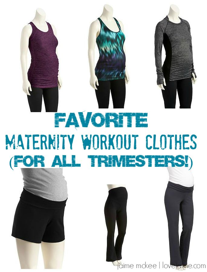 My favorite maternity workout clothes (that won't break the budget and can be worn for all trimesters.)