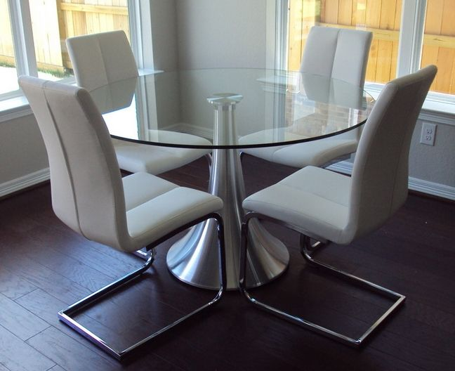 Nice The Bernini Has A Clear Round Tempered Glass Top And A Fluted Brushed  Aluminum Base. Dining FurnitureDining TablesDesign ... Awesome Ideas