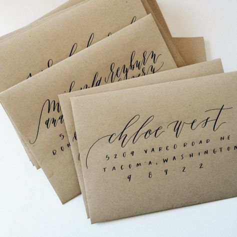 Calligraphy Envelopes from Eleven and West