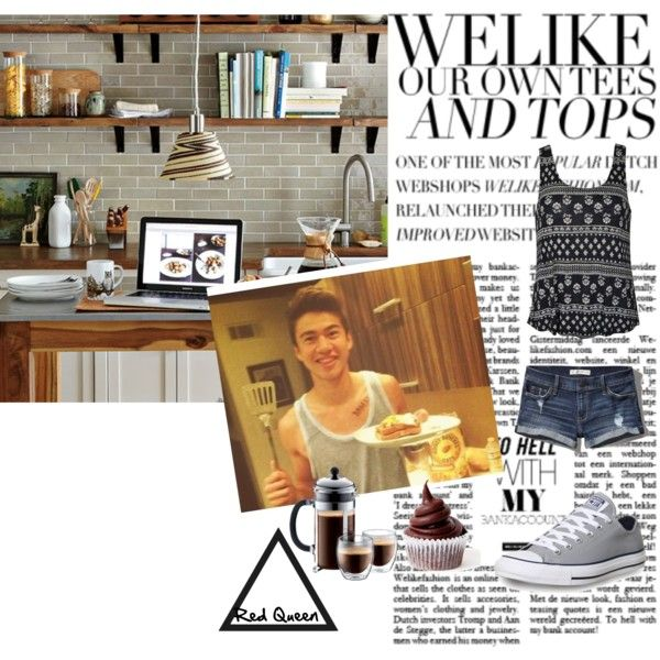 Calum by elleonora-scarlat on Polyvore featuring Abercrombie & Fitch, Converse and West Elm
