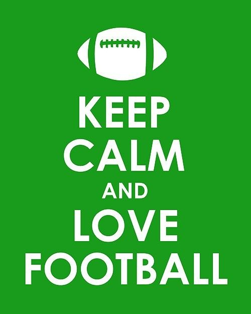 Keep Calm and Love Football archival print by TheLobsterPot, $11.99