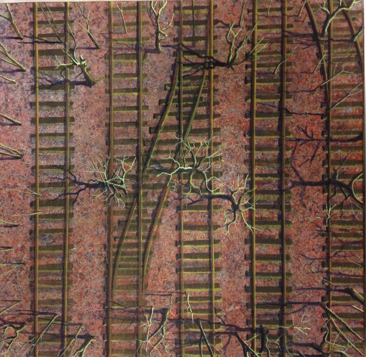 490 - Acrylic on canvas, 40 x 40 Cm.