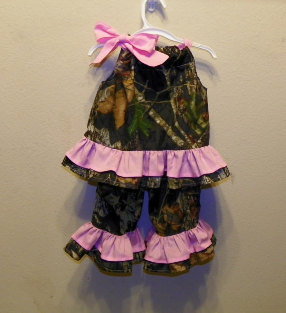MOSSY OAK Camo camouflage top and matching by GranniDaniDesigns, $39.00