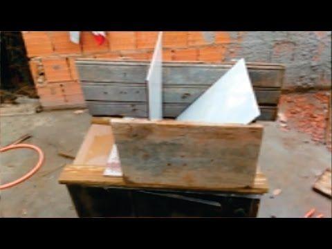 como fazer maquina d colocar argamassa na ceramica