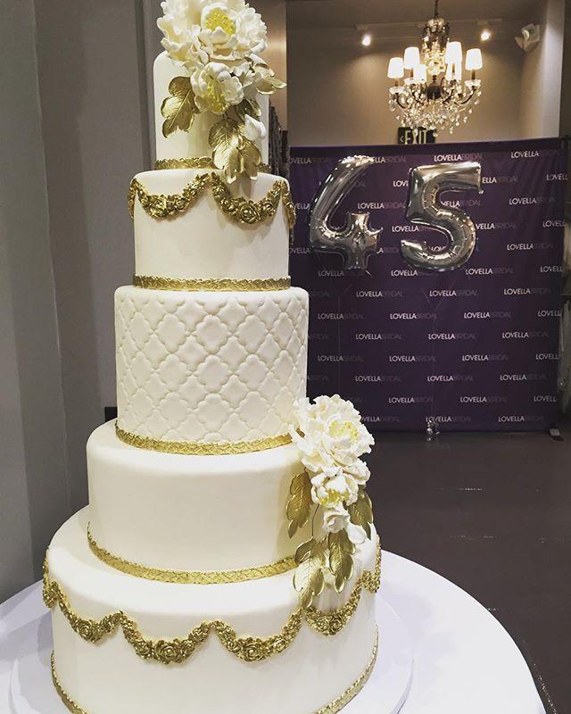 Thank you @cakestudiola for our beautiful #birthdaycake! A party is not complete without #cake!! *an amazing tasting cake that is!  #Lovellaturns45 #cakecakecake #weddingcake #instacake #cakestagram #cakedesign #instadaily #bride #bridetobe {#snapchat  lovellabridal}