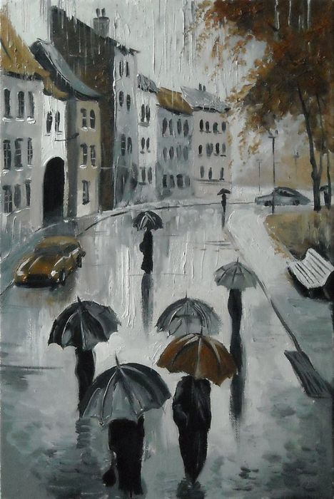 Paraguas.  De una serie de lluvias Petersburgo (468x700, 343KB)