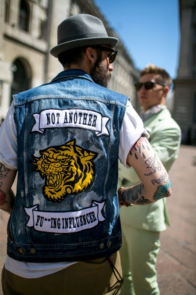 Street style at Milan Fashion Week Men's Spring 2018