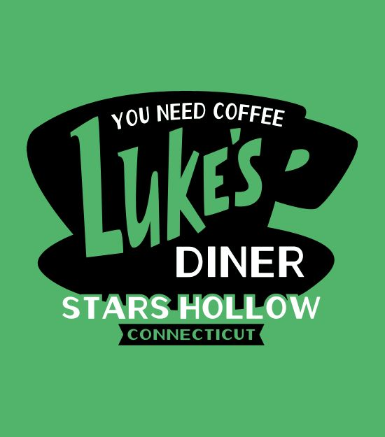 You Need Coffee.  Luke's Diner, Stars Hollow, CT t-shirt.  Gilmore Girls fans, this shirt is for you.  TV shirts.