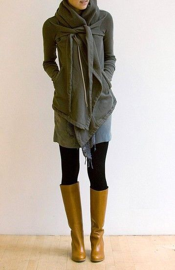 Ultimate Hoodie. How do I get this? I want one so bad.: Fall Clothing, Wraps Sweaters, Yellow Boots, Tall Boots, Fall Wins, Fall Looks, Fall Outfit, Fall Fashion, Brown Boots