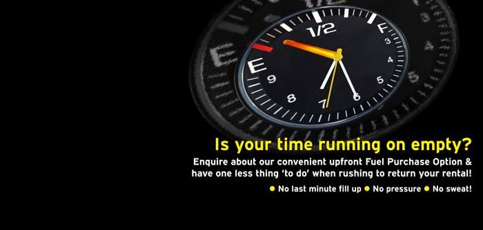 Time is really precious, so next time you hire a car, find out about our 'Running on empty' option available to you! https://www.hertz.co.za/