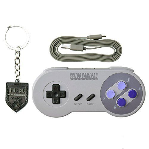 8BitDo SNES30 Manette sans fil Bluetooth: SNES 30th anniversary GamePad edition, retro design, same touch, same feeling Dual-mode support…