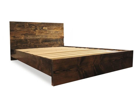 this beautiful solid wood platform bed frame is built by hand and made to last a - Solid Wood Platform Bed Frame King
